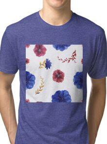 flowers watercolor  Tri-blend T-Shirt