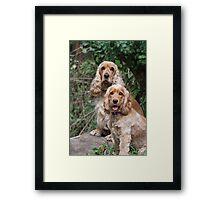 Portrait: Dad & Daughter Framed Print