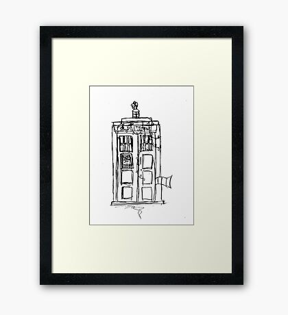 The Christmas TARDIS Framed Print