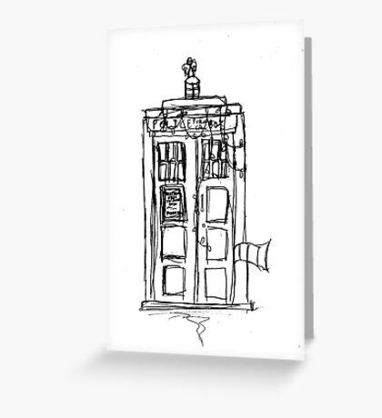 The Christmas TARDIS Greeting Card