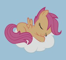 Scootaloo Sleeping on Cloud by Dennis Brony Fluttershy