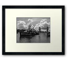 HMS Belfast and Tower Bridge Framed Print