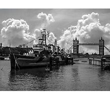 HMS Belfast and Tower Bridge Photographic Print