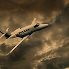 Jet Through The Clouds  by David Dehner