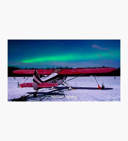 6 Mile Lake Aurora Photographic Print