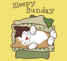 Sleepy Sunday Days of Week Cat One Piece - Short Sleeve