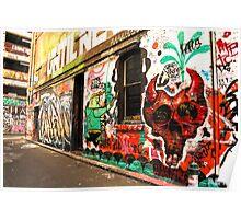 Back to Back Laneway Graff Poster