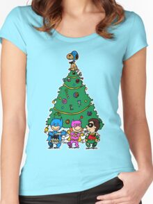Gotham City Christmas Women's Fitted Scoop T-Shirt