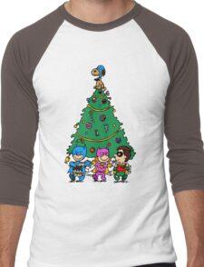 Gotham City Christmas Men's Baseball ¾ T-Shirt