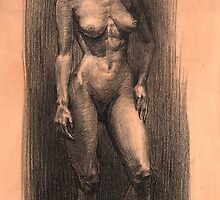 Figure in charcoal. by Malish