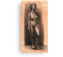 Figure in charcoal. Canvas Print
