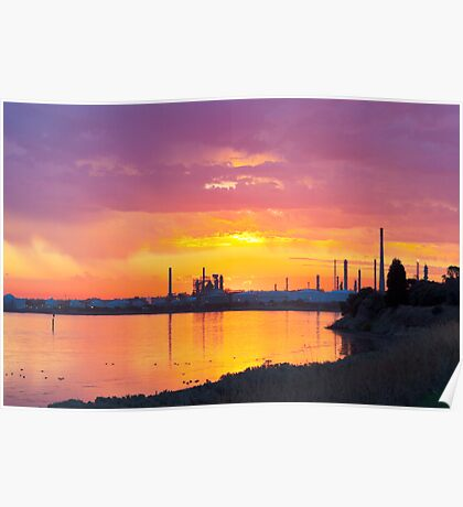 Refinery Sunset Poster