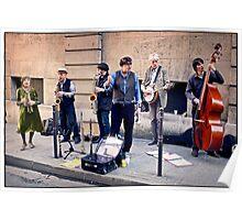 Street Musicians, Paris.  Poster