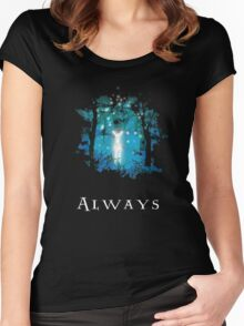 Snape's Patronus Women's Fitted Scoop T-Shirt