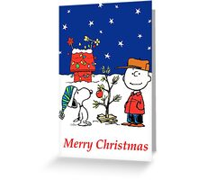Charlie Christmas Tree Greeting Card