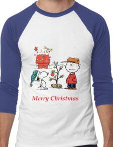 Charlie Christmas Tree Men's Baseball ¾ T-Shirt