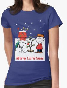 Charlie Christmas Tree Womens Fitted T-Shirt