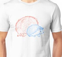 Hedgehogs & Echidnas Are Natural Enemies Unisex T-Shirt