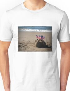 Sandcastle with Flags Unisex T-Shirt