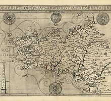 Regional Map of Brittany and Armorica France (1594) by allhistory