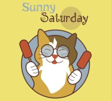 Sunny Saturday Days of the Week Cat Kids Tee