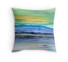 Kayakers Solitude Throw Pillow