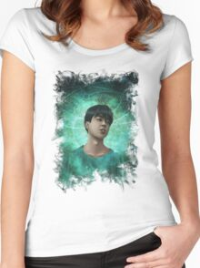 Space Jimin tshirt Women's Fitted Scoop T-Shirt