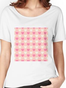 Candy Hearts Women's Relaxed Fit T-Shirt