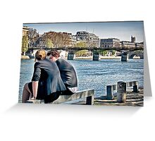Lovers along the Seine, Paris. Greeting Card