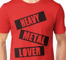 Heavy Metal Lover (Stamp Design) Unisex T-Shirt