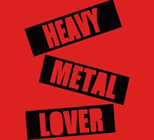 Heavy Metal Lover (Stamp Design) Unisex T-Shirt