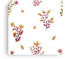 flowers watercolor  Canvas Print
