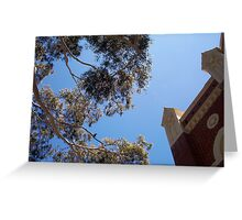 Parrot and Church -  26 11 12 - Two Greeting Card