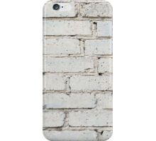 Soft image of a background of gray brick wall iPhone Case/Skin