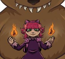 Annie and her Bear Sticker