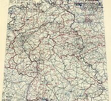 May 18 1945 World War II HQ Twelfth Army Group situation map by allhistory