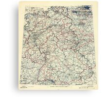 May 18 1945 World War II HQ Twelfth Army Group situation map Canvas Print