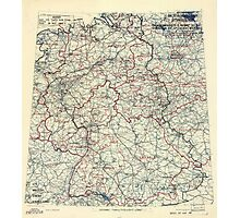 May 18 1945 World War II HQ Twelfth Army Group situation map Photographic Print