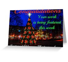 Holiday Tree Feature Banner Greeting Card