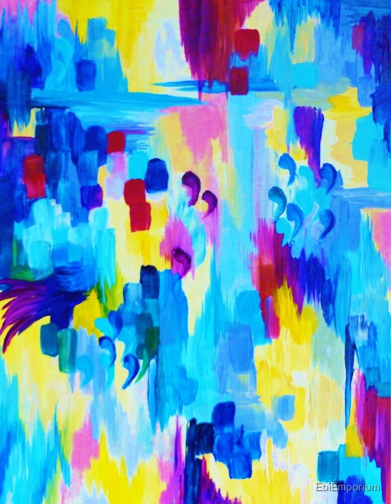 DONT QUOTE ME Revisited Bold Abstract Acrylic Painting