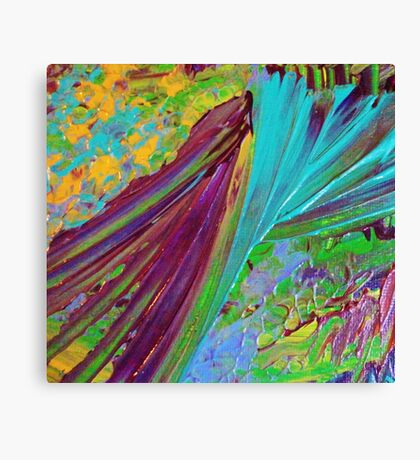COLOR CHAOS Wild Vibrant Colorful Abstract Acrylic Painting Gift Art Decor Canvas Print