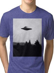 I Want To Believe - Black And White Tri-blend T-Shirt