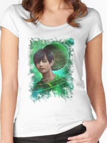Space TaeHyung / V tshirt Women's Fitted Scoop T-Shirt