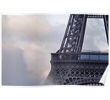 The center of the effeil tower and spouting water  Poster