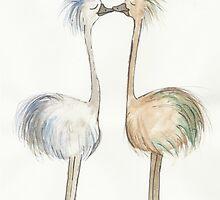Kissing Emus by Tessie Dowling