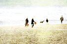 Family On The Beach by Anne Staub