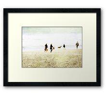 Family On The Beach Framed Print