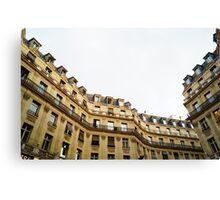 typical building hausmannian style in Paris, France  Canvas Print