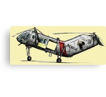 Old Rescue Helicopter Canvas Print