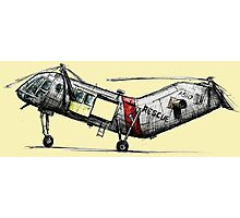 Old Rescue Helicopter Photographic Print